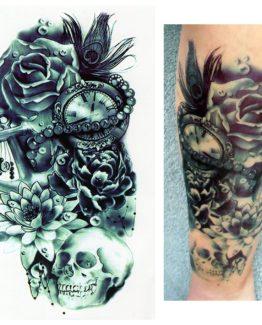 tattoo schlüssel uhr